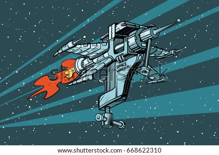 star working space ship of