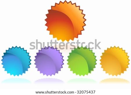 starburst sticker set