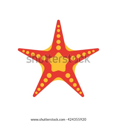 starfish colorful vector icon