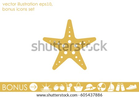 starfish icon vector illustration eps10