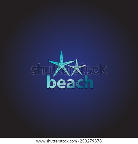 starfish   isolated on blue