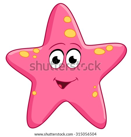 starfish sea star cartoon