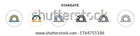 stargate icon in filled  thin
