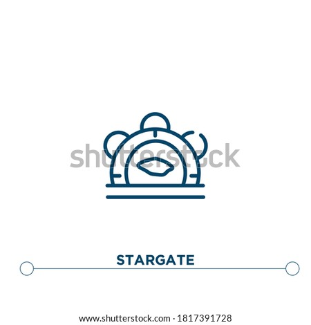 stargate outline vector icon