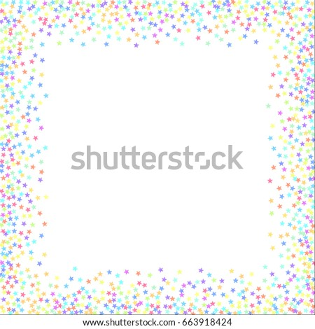 starry background square card star vector isolated confetti on