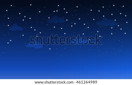 starry dark sky with clouds