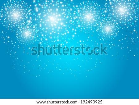 starry fireworks on blue