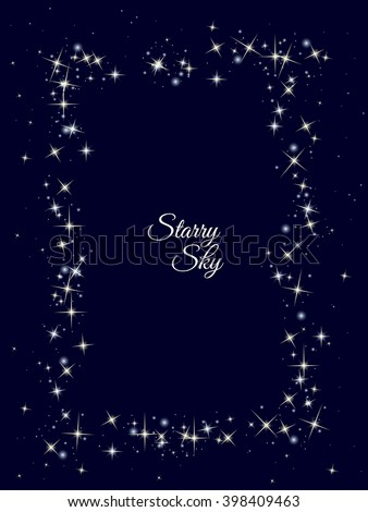starry frame frame made of