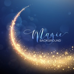 Starry Glitter Trail Background. Vector illustration EPS10