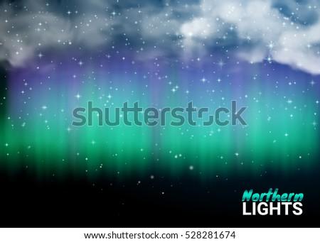 starry night sky aurora