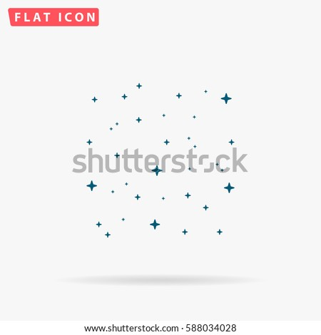 starry sky icon vector flat