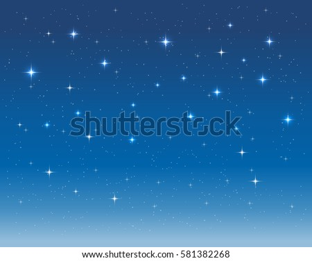 starry sky in the night vector