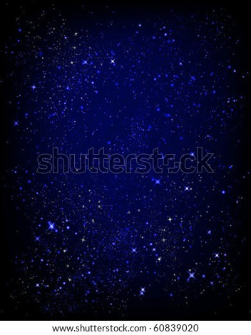 starry sky texture vector background