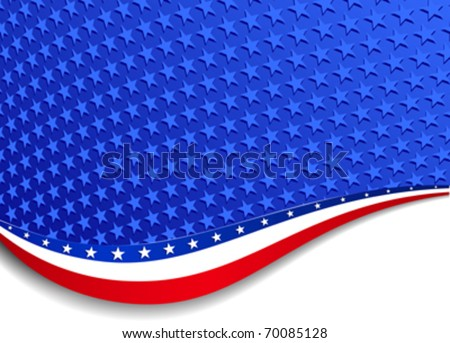 Stars and Stripes Background Landscape - There are more stars outside the mask, for you to mask as you like. All elements are grouped and on individual layers in the vector file for easy use.