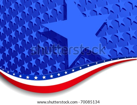 Stars and Stripes Landscape and star - Illustrator 10 with transparency. More stars are outside the mask, for you to mask as you like. Elements are on individual layers in the vector file for easy use