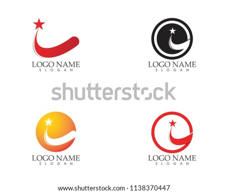 Stars circle logo design vector