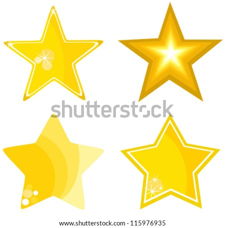 Stars collection - vector illustration