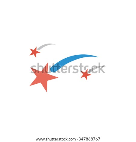 stars color vector icon on