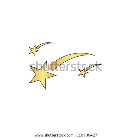 stars gold vector icon with