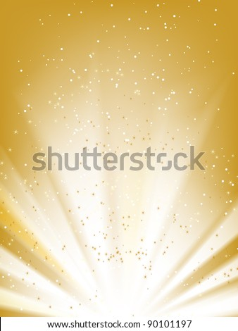 Stars golden vector background with place for your text
