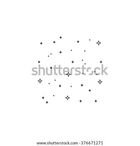 Stars Icon Vector. Simple Flat illustration