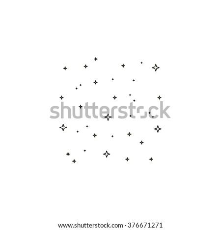stars icon vector simple flat
