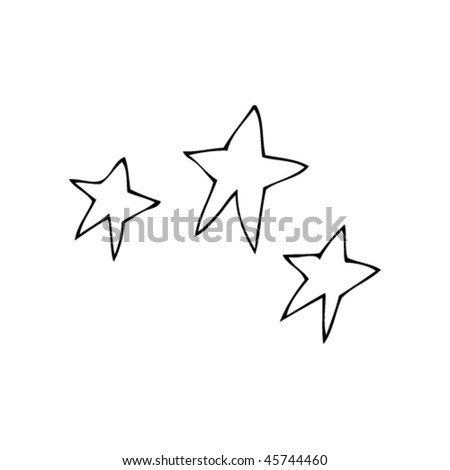 stars in kids drawing style