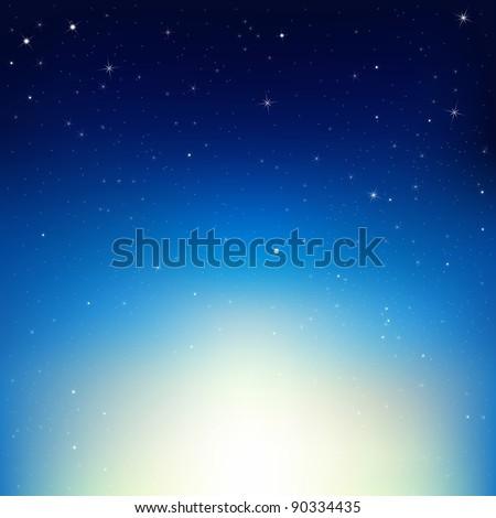 stars in night sky  vector