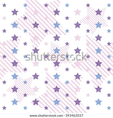 Stock Photo stars in pastel colors ideal for baby shower violet blue