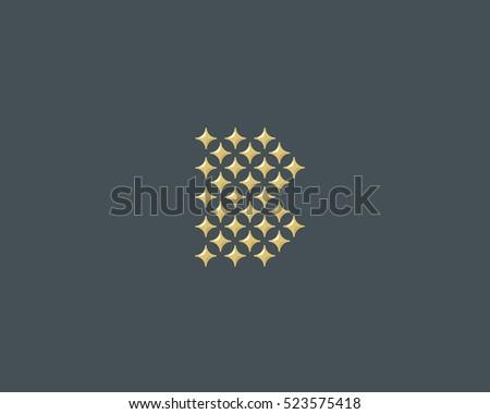 stars letter b vector logotype