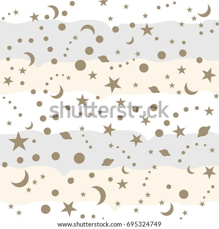 stars  moon and  polka dot