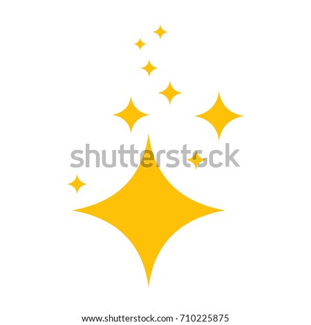 Stars of brilliance and radiance of cleanliness and freshness. Cleaning, fresh, hygiene and shine in house. Flat vector cartoon illustration. Objects isolated on a white background.