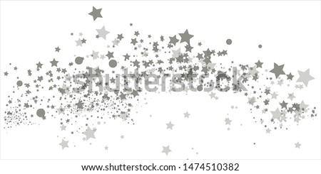 Stars on a white background. Black star shooting with an elegant star.Meteoroid, comet, asteroid, stars.