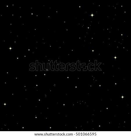 stars on black background