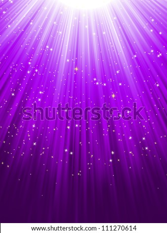 stars on purple striped