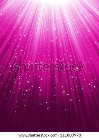 stars on purple striped