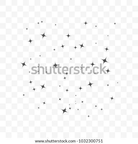 Stars on sky icon simple flat. Perfect Black pictogram illustration on transparent background.