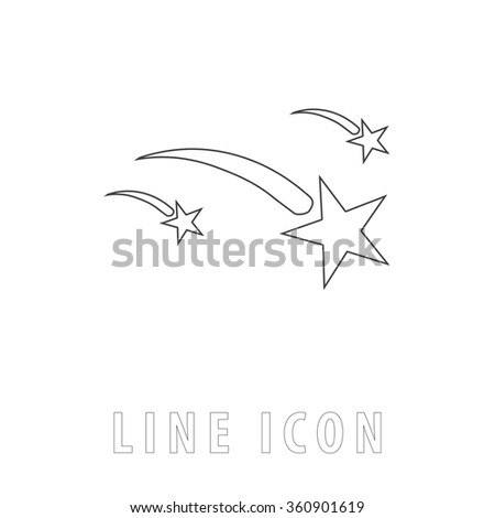 stars outline simple vector