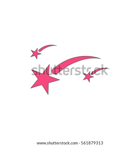 stars pink vector icon with
