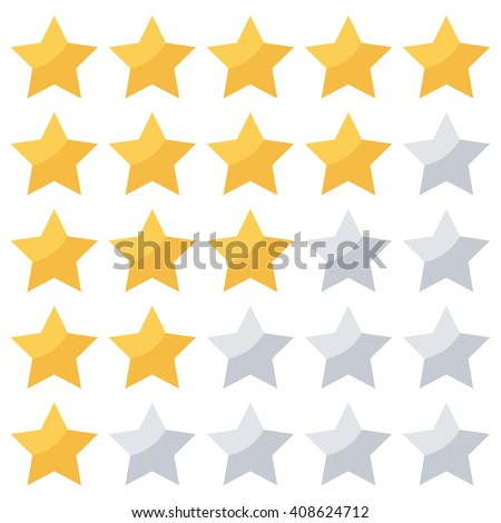 stars rating isolated on white