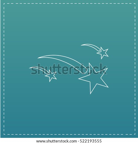 stars simple line vector button