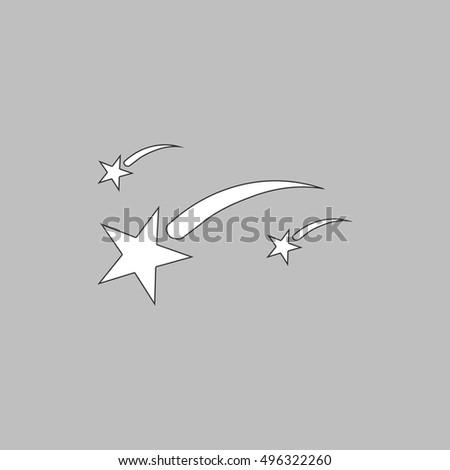 stars simple line vector button