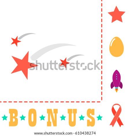 stars simple vector button