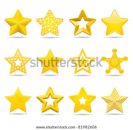 stars  six pointed stars from
