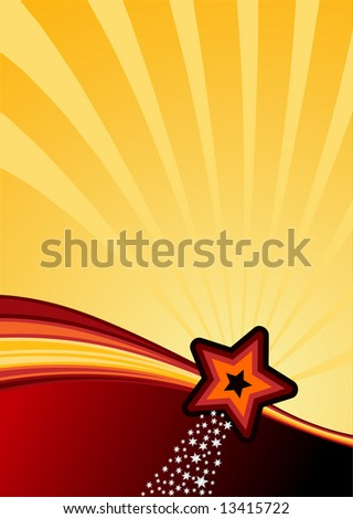 stars, stripes and swhooshes background ready for your text. Vector illustration.