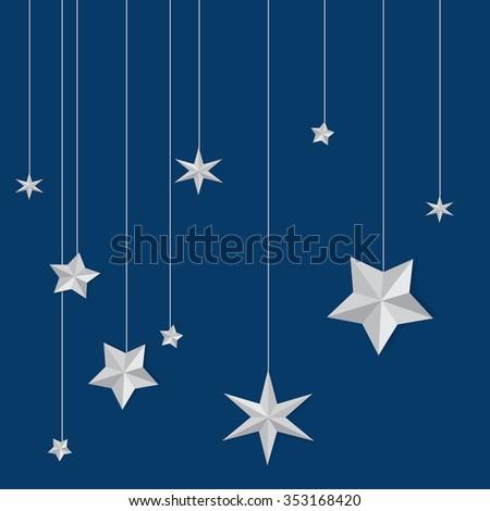 stars vector paper art
