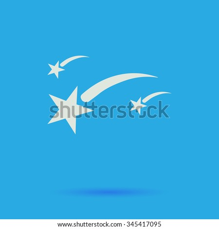 stars white flat vector simple