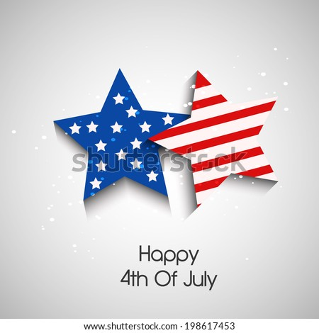 Stars with U.S.A Flag for 4th Of July