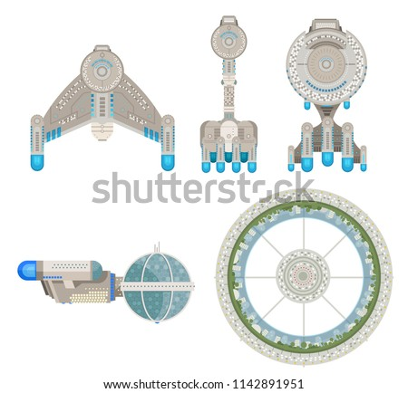 starship vessels and station
