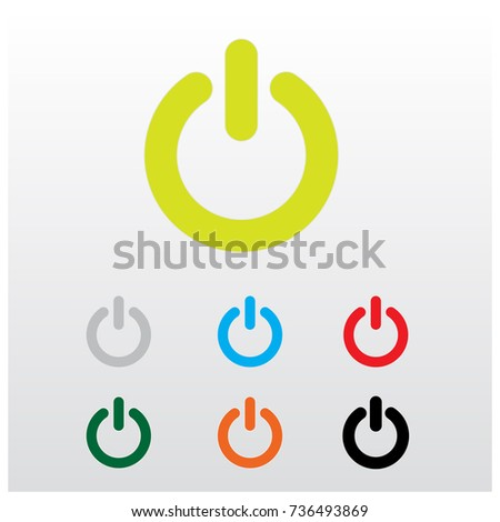 Start Button. Switch Icon. Power Button. logo.